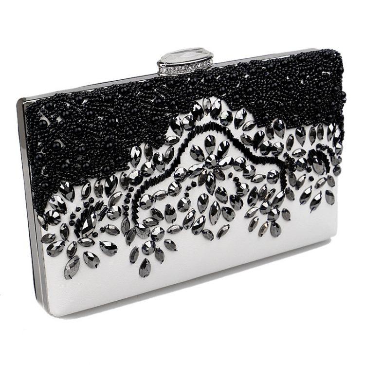 New-mulheres-diamonds-preto-frisado-flores-top-de-luxo-sacos-de-noite-embreagens-mensageiro-cadeia-de