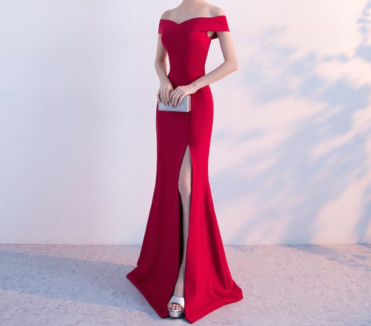 PotN-Patio-Vinho-Vermelho-Longo-Vestidos-de-Noite-Elegante-Sexy-Off-The-Shoulder-Slit-Sereia-Vestidos